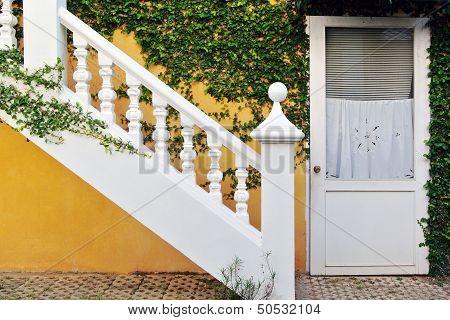 Ataircase Interior On Yellow Wall