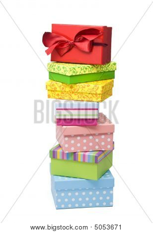 High Stack Of Gift Boxes