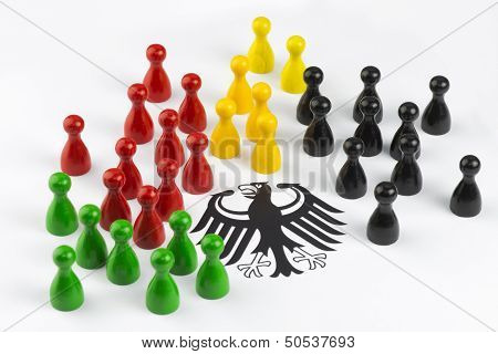 Game Figures With Federal Eagle
