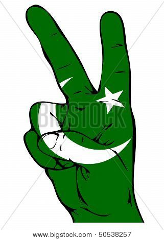 Peace Sign of the Pakistani flag