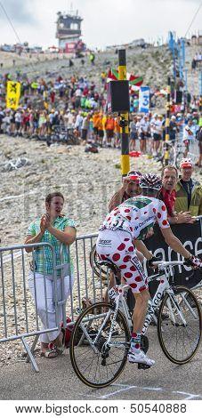 Polka Dot Jersey On Mont Ventoux