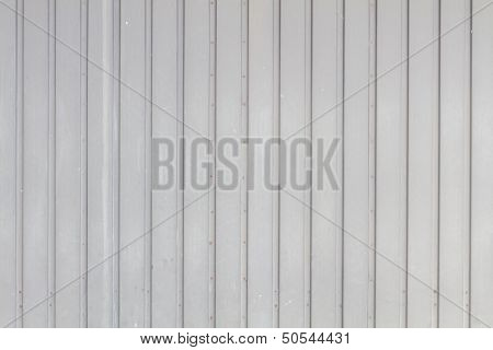 Grey Garage Door In Metal Grungy Look