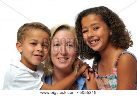 Portrait Of Biracial Family