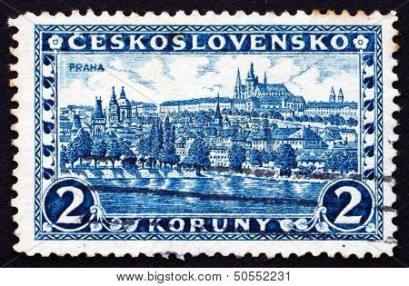 Postage Stamp Czechoslovakia 1926 Hradcany At Prague