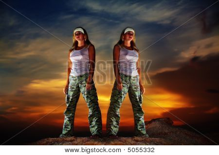 Two Military Woman