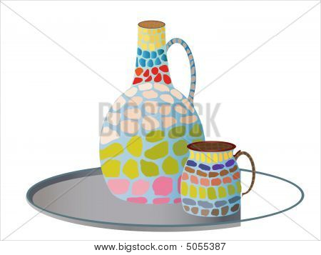 Painted ceramic
