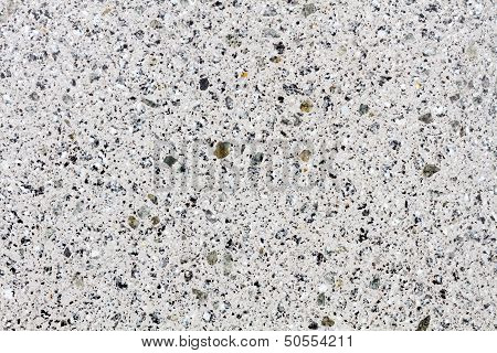 White Gleaming Granite Structure On A Worked Stone
