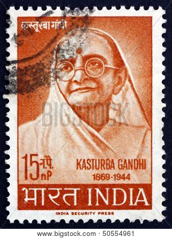 Postage Stamp India 1964 Kasturba Gandhi