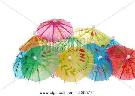 Lots Of Asian Umbrellas