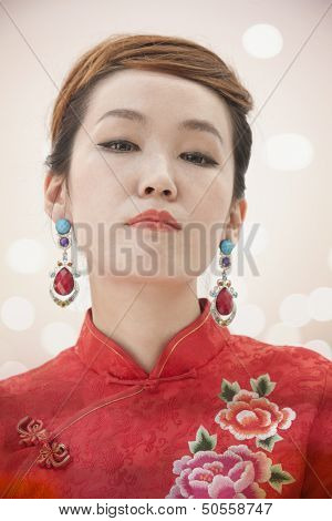 Young Woman with Qipao