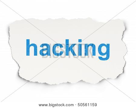 Safety concept: Hacking on Paper background
