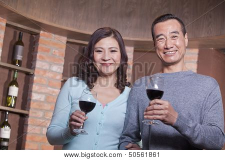 Mature Couple at a Winetasting