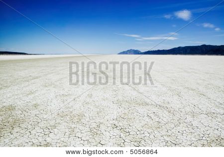 Salt Flats Of The Black Rock Desert Playa