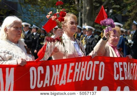 Inhabitants Of Deposited Sevastopol At Russian Parade May 9, 2009 In Sevastopol, Ukraine.
