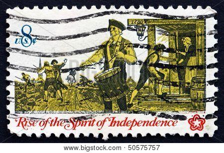 Postage Stamp Usa 1973 Drummer
