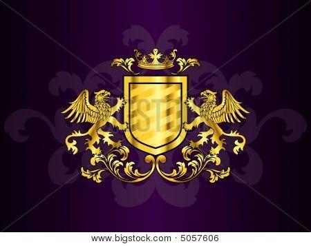 Golden Wappen mit griffins