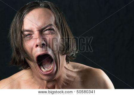 Man Screams In Agony