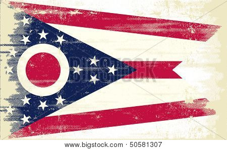 Ohio grunge Flag. Flag of Ohio with a texture.