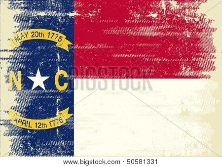 North Carolina grunge Flag. Flag of North Carolina with a texture