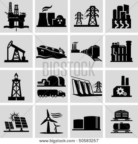 Energy production icons