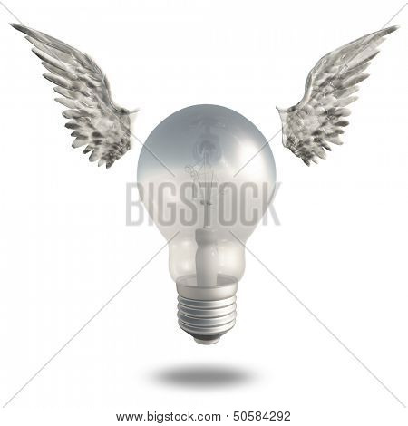 Light Bulb and Wings