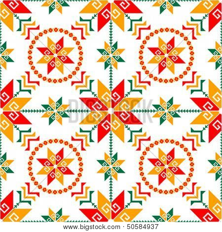 Traditional Mexican clothing seamless pattern