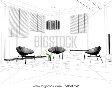 Line Drawing Room