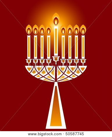 Hanukkah candles no  transparencies