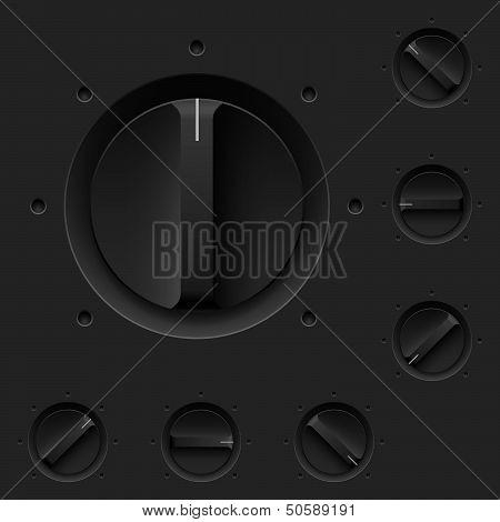 Black control pane