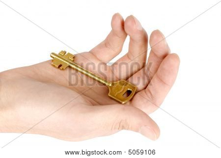 Golden Key In The Hand