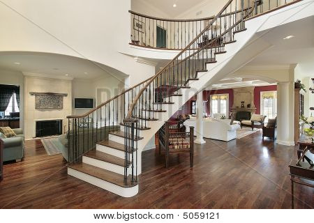Foyer In Open Floor Plan