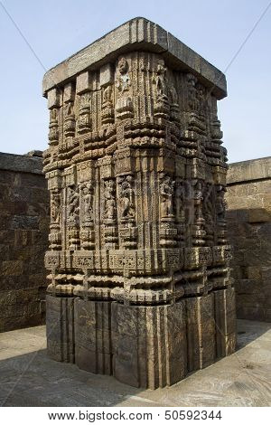 Intricate Carving On Column
