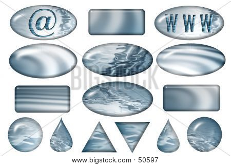 Aqua Various Buttons Pack