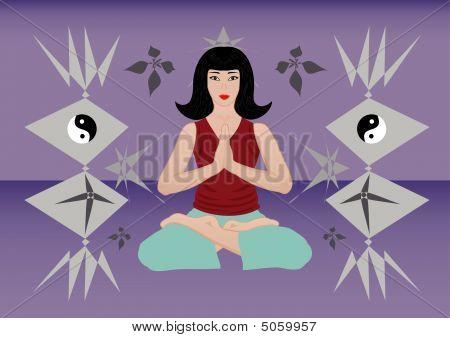 Meditation Of A Beautiful Woman