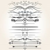 picture of scroll  - Decorative Rule Lines - JPG