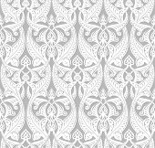 stock photo of motif  - Vintage detailed seamlessly tilable repeating Art Nouveau motif background pattern - JPG