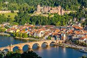 picture of chateau  - View on Heidelberg - JPG