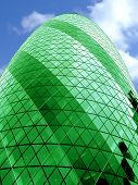 Bullet Building Alone Green poster
