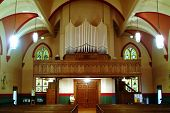 picture of peace-pipe  - picture of church interior - JPG