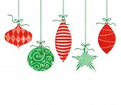 Whimsical Hanging Christmas Ornaments