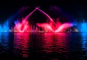 picture of vinnitsa  - Musical fountain with colorful illuminations at night - JPG