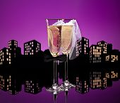 picture of hetero  - Metropolis Champagne glasses with conceptual same sex decoration Lesbian - JPG