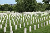 image of arlington cemetery  - Washington DC capital city of the United States - JPG