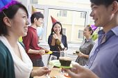 pic of office party  - Business People Enjoying Office Party - JPG