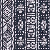 stock photo of indian blue  - Abstract tribal pattern - JPG