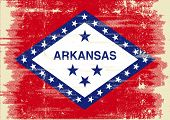 Arkansas grunge Flag. Flag of Arkansas with a texture.