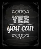 picture of yes  - Quote Typographical Background - JPG