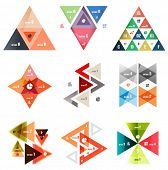 Set of abstract triangle modern templates