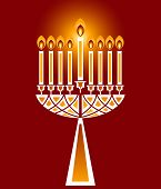 stock photo of hanukkah  - Hanukkah candles no  transparencies - JPG