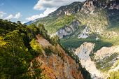 Fantastic view Tara river gorge - is the second biggest canyon in the world and the biggest one in Europe in the national park Durmitor in Montenegro. Balkans. Beauty world. poster